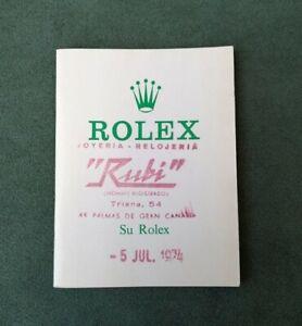 BOOKLET SU ROLEX ANNO 1972 SP.