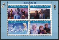 Chad Disney Stamps 2019 CTO Frozen 2 Elsa Olaf Cartoons Animation 4v M/S II