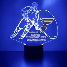 St. Louis Blues NHL Hockey Stanley Cup Champions Personalized Sports Fan Lamp