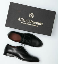 Allen Edmonds Park Avenue Black Leather Cap Toe Oxfords - Men's 9 D