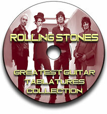 ROLLING STONES ROCK GUITAR TAB TABLATURE SONG BOOK SOFTWARE CD