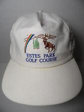 Vintage 1980s ESTES PARK COLORADO GOLF COURSE Hole Design ADVERTISING Hat Cap