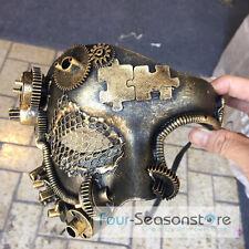 Gold Steampunk Style Phatom Opera Theatre Mardi Gras Masquerade Mask M39021G