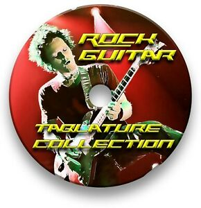 Over 570 Rock Guitar Tabs Collection Tablature Lesson Software CD - Guitar Pro