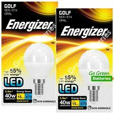 2x Energizer E14 5.9 Watt Golf LED Bulb. 470 Lumens. Equivalent - 40W (Opal)