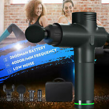 LCD Massage Gun 20 Gears Muscle Vibration Relaxing Therapy Deep Tissue UK ROYAL