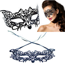 Faun Fox Mouse Victorian Venetian Masquerade Black Lace Elegant Eye Mask Costume