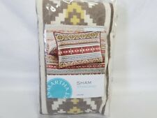 MARTHA STEWART - Aztec Dreams Light Beige One Quilted Standard Pillowsham
