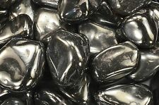 "Silver Hematite Tumbled 1 1/2"" 2-4 Oz Healing Crystals Stones Root Chakra Reiki"