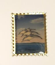 National Wildlife Federation Dolphin Stamp Metal