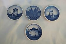 4 Royal Copenhagen Fajance Mini Plates marked and signed