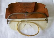 "Vintage WILLSON ""FeatherSpec"" Metal Semi-Rimless Pilots Glasses Safety Gogles"