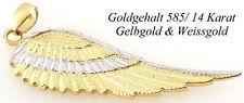 585 Engelsflügel 1,87 anhänger massiv 14k Gelbgold Weißgold engel flügel schmuck