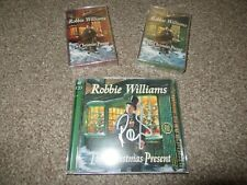 Robbie Williams The Christmas Present signed CD & 2 cassettes