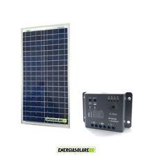 Kit Solare Fotovoltaico 30W 12V Regolatore PWM 5A Epsolar Camper Casa Nautica Il