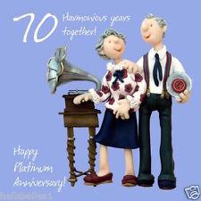 Holy mackerel happy 70TH/platine anniversaire carte de vœux gratuit 1ST classe p&p