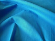 STRETCH COTTON SATEEN -TURQUOISE -FASHION/CRAFT FABRIC-FREE P&P
