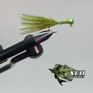 Olive Drifter - 2 Pack Marabou Jigs 3x Strong Steelhead Salmon Trout Jigs