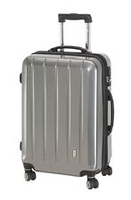 Trolley Hartschale 70 cm Koffer Trolly 4 Rad m TSA Schloß London carbon silber