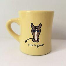LIFE IS GOOD COFFEE MUG DO WHAT YOU LIKE Horse Mug Yellow
