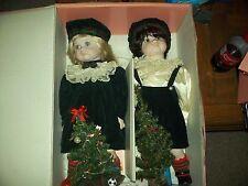 Marian Yu Design Co., MYD porcelain Christmas Dolls Brother/Sister twins