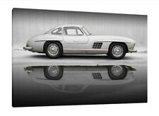Mercedes 300 SL Gullwing - 30x20 Inch Canvas - Wall Print Framed Picture