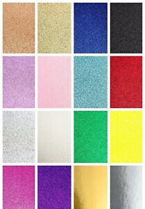A4 Glitter Card Cardstock Premium Quality Low Shed 250gsm - Mirror Craft Sparkle