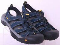 Keen Newport H2 Blue Waterproof Bungee Outdoor Fisherman Sandals Men's US 12