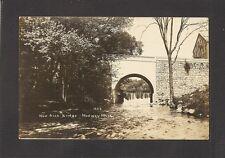 REAL-PHOTO POSTCARD:  MEDWAY, MASSACHUSETTS - NEW ARCH BRIDGE - Unused, c.1910