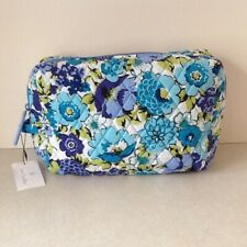 Vera Bradley Blueberry Blooms Large Cosmetic Case Nwt