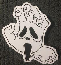 "SCREAM Hand mask movie skateboard vinyl sticker decal 3"" x 2"" Ships from US"