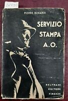 1936 - BONARDI, PIERRE. SERVIZIO STAMPA A.O.