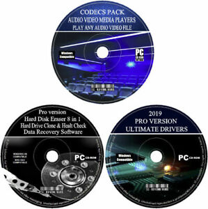 2021 Drivers Installer Codecs & Players Data Recovery HDD Eraser For Windows PC