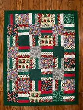 New Homemade Winnie the Pooh Christmas Quilt~Baby Gift~Wall Hanging~ 39� x 50�