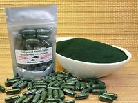 Chlorella Pyrenoidosa Powder 60 750 mg Capsules Broken Cell