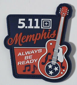 """5.11 TACTICAL  ~"""" MEMPHIS, TENN, STORE OPENING """" PVC MORALE PATCH~ AMAZING !!"""