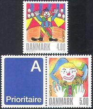 Danimarca 2002 EUROPA/clown/circo/ANIMAZIONE/arte/DIPINTI 2v EX bklt (n29962)