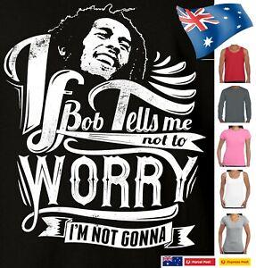 Bob Marley  t shirt Funny T-Shirts Reggae Size Rastafarian Ladies Mens top tee