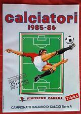 ALBUM FIGURINE CALCIATORI PANINI SERIE A 1985/1986 RISTAMPA L'UNITA' EDICOLA