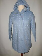 JOULES SOUTHCOTE SPOTTY  RAIN COAT  WITH HOOD   SIZE UK 8/10   NEW RRP £129