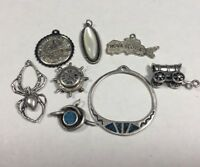 Lot of (8) Vintage Sterling Silver 925 Bracelet Charms