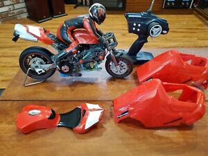 Vintage Ducatti 999 Nitro RC Motorcycle 1/5th RC with Remote Controller