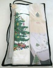 NEW SPODE NEW XMAS TREE TABLECLOTH 52 X 90 COTTON MACHINE WASH