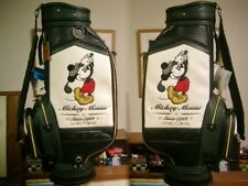 Disney Mickey Mouse Golf Cart Bag Trad Design Leather Black and White