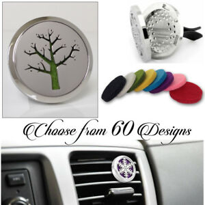 FRAGRANCE & ESSENTIAL OIL DIFFUSER stainless CAR AIR VENT FRESHENER aromatherapy