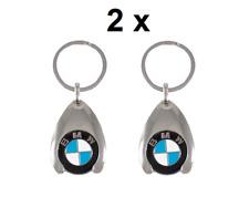 2x Original BMW Schlüsselanhänger mit Einkaufschip