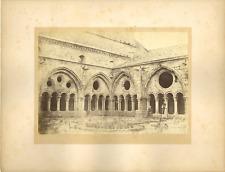 France, Sens, Cour de la Cathédrale  Vintage albumen print.  Tirage albuminé