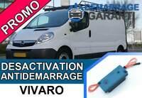 Clé de désactivation d'anti démarrage Opel VIVARO