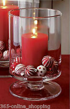 Large Glass Hurricane Candle Lantern Christmas Candle Holder Table Centrepiece