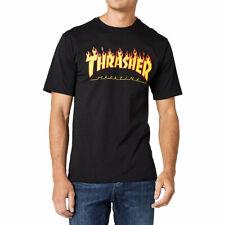 Thrasher Flame T-shirt Large Black